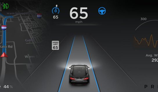 Tesla begins rolling out new Autopilot software