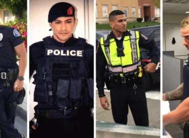 """Handsome hero"""" cop is latest internet star after saving woman from river"""